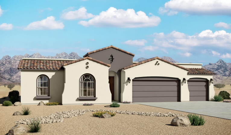 2740 Spanish Elevation 3 Car Garage